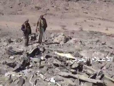 تصویر از فیلم/ لاشه جنگنده تورنادوی عربستان در یمن