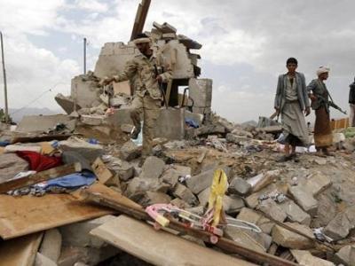 تصویر از شهادت ۹ غیرنظامی در حمله نظامیان عربستانی به شمال یمن
