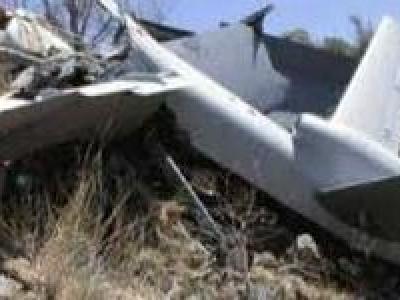 تصویر از انهدام هواپیمای جاسوسی ائتلاف سعودی در خاک یمن