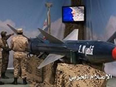 تصویر از شلیک دومین موشک بالستیک یمن به سمت مواضع شبهنظامیان ائتلاف سعودی