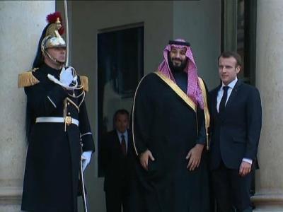 تصویر از رئیس جمهور فرانسه از فروش تسلیحات نظامی به عربستان سعودی دفاع کرد