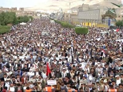تصویر از خروش یمنی ها علیه ائتلاف آمریکایی -عربی