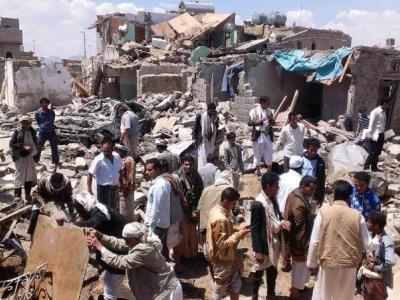 تصویر از عربستان مراسم عروسی را در یمن به خاک و خون کشید