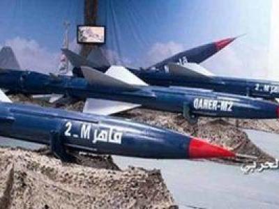 تصویر از شلیک موشک «قاهر۲» به مواضع نظامیان سعودی در جیزان