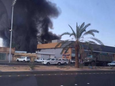 تصویر از حمله هوایی ارتش یمن به سکوی شرکت نفتی آرامکوی عربستان