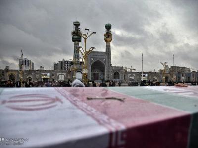 تصویر از برگزاری مراسم تشییع شهید مدافع حرم «عوض مرادی» در مشهد