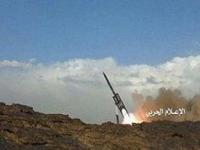 تصویر از حمله موشکی ارتش یمن به بندر جیزان عربستان