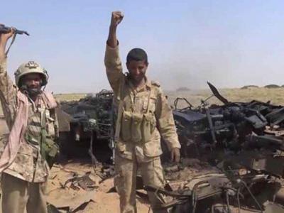 تصویر از عملیات موفق نیروهای یمنی در شهر مرزی «عسیر»