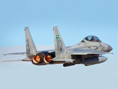 تصویر از حمله جنگندههای سعودی به استان صعده یمن