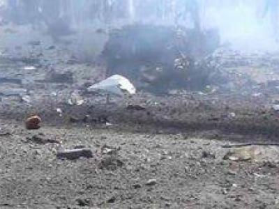 تصویر از یورش جنگندههای ائتلاف به اتوبوس آوارگان در الحدیده