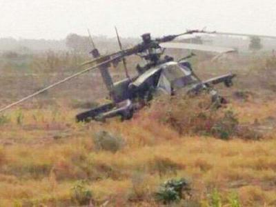تصویر از انصارالله یمن یک بالگرد آپاچی سعودی را سرنگون کرد