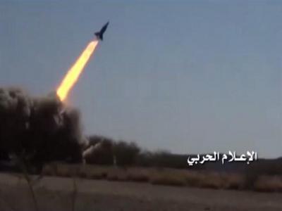 تصویر از حمله موشکی انصارالله علیه مواضع نظامیان وابسته به ائتلاف+ تصاویر