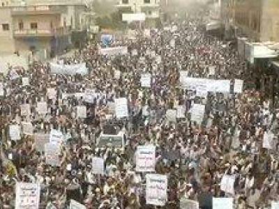 تصویر از تظاهرات گسترده ضد استکباری یمنیها