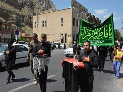 تصویر از مراسم استقبال از پرچم حرم حضرت زینب(س) و حضرت رقیه(س)در ماکو / تصاویر