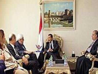 تصویر از دیدار فرستاده سازمان ملل با وزیر خارجه «دولت نجات ملی» یمن