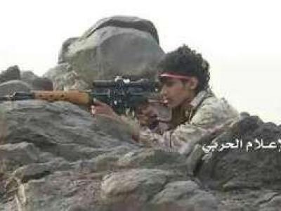 تصویر از هلاکت شماری از مزدوران سعودی در جیزان به دست تکتیراندازان یمنی