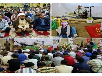 تصویر از اولین سالگرد شهید مدافع حرم «محمد تاجبخش» در گتوند