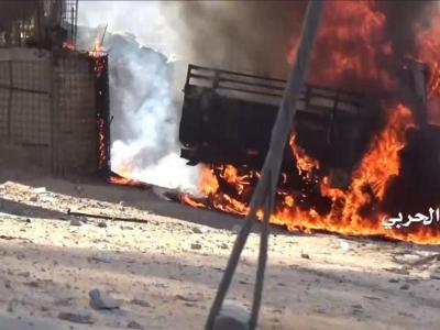 تصویر از فیلم/ گرفتار شدن نظامیان سعودی در یک کمین محکم در جیزان