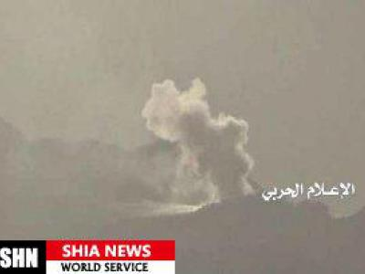 تصویر از سقوط یک فروند هلیکوپتر نظامی سعودی در یمن