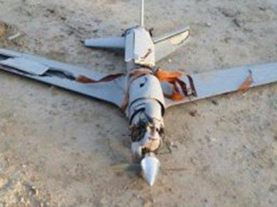 تصویر از سرنگونی هواپیمای جاسوسی متجاوزان به یمن در جیزان