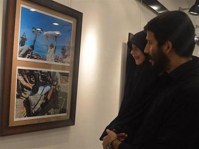 """تصویر از نمایشگاه عکس """"گمنامی"""" در لرستان برپا شد؛ شاخص سازی و پاسداشت شهدا"""