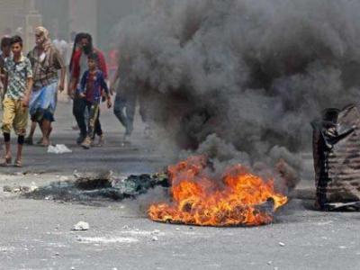 تصویر از پنجمین روز تظاهرات معترضان یمنی برای خروج دولت منصور هادی از عدن