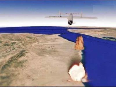 تصویر از هدف قرار گرفتن اتاق عملیات متجاوزان در ساحل غربی یمن توسط پهپاد قاصف