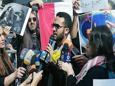 تجمع اعتراضی به ادامه جنگ در یمن در برابر سفارت عربستان در لبنان