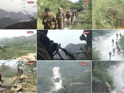 تصویر از فرار دسته جمعی نیروهای ارتش سعودی در پی حمله نیروهای ارتش یمن
