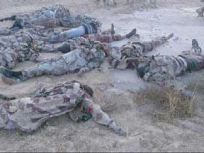 تصویر از هلاکت ۴ نظامی سعودی در حجه یمن