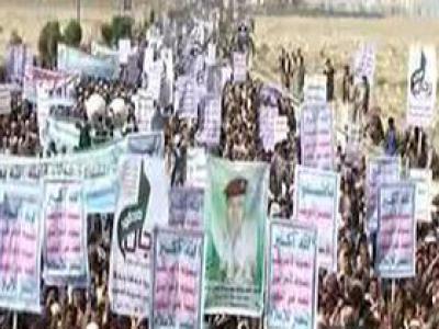 تصویر از راهپیمایی مردم یمن به مناسبت روز شهید + فیلم