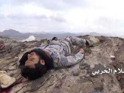 تصویر از کشته و زخمی شدن ۴۰ شبهنظامی در حمله موشکی یمن