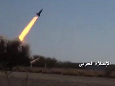 تصویر از شلیک موشک زلزال۱ به جنوب عربستان
