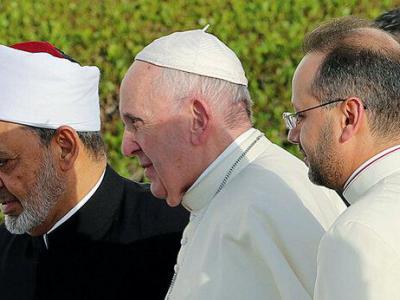 تصویر از ساخت مسجد شیخ احمد الطیب و کلیسای پاپ فرانسیس در امارات کلید خورد