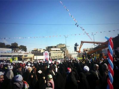 تصویر از مسیرهای دهگانه راهپیمایی یومالله ۲۲ بهمن در قم اعلام شد