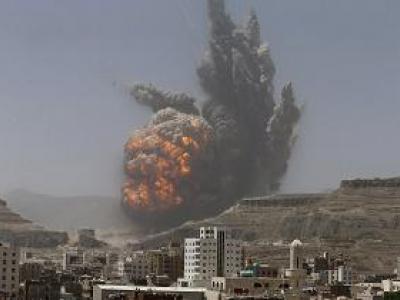 تصویر از وقوع انفجار مهیب در صنعا