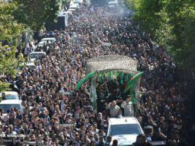 تصویر از فیلم/ لحظاتی دیدنی تشییع امروز حُر مدافعان حرم