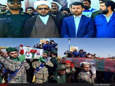 تصویر از آیین تشییع و خاکسپاری هشتمین شهید مدافع حرم دزفول برگزار شد+ تصاویر