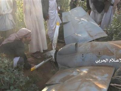 تصویر از پدافند هوایی یمن، پهپاد آمریکایی را منهدم کرد