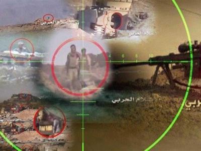 تصویر از شکار ۴ مزدور ائتلاف متجاوز سعودی در عملیات نیروهای یمنی