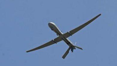تصویر از پهپاد یمنی آشیانه جنگنده های سعودی را هدف قرار داد
