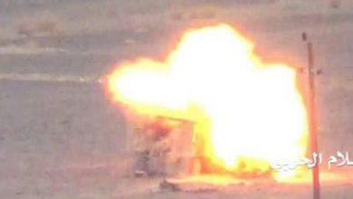 تصویر از حمله توپخانهای ائتلاف سعودی به الحدیده یمن