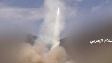 تصویر از شلیک ۵ موشک از یمن به جنوب عربستان