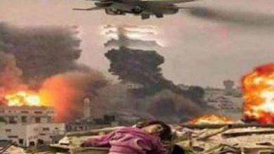 تصویر از جنگندههای ائتلاف متجاوز سعودی بار دیگر برجهای مخابراتی یمن را هدف قرار دادند