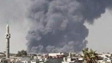 تصویر از حملات توپخانهای گسترده رژیم سعودی به «الحدیده» یمن