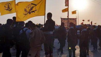 تصویر از استقبال زائران اربعین از موکب فاطمیون در مرز شلمچه+عکس و فیلم