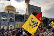تصویر از حضور هیئت رزمندگان فاطمیون و مهاجرین افغانستانی مشهد در عزای امام مهربانیها + تصاویر