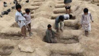 تصویر از کشته شدن بیش از ۱۰۰ هزار یمنی از آغاز جنگ در سال ۲۰۱۵