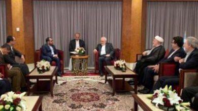تصویر از سخنگوی انصارالله یمن با ظریف دیدار کرد