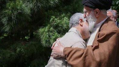 تصویر از دو تصویر از ارتباط نزدیک سردار سلیمانی با رهبری